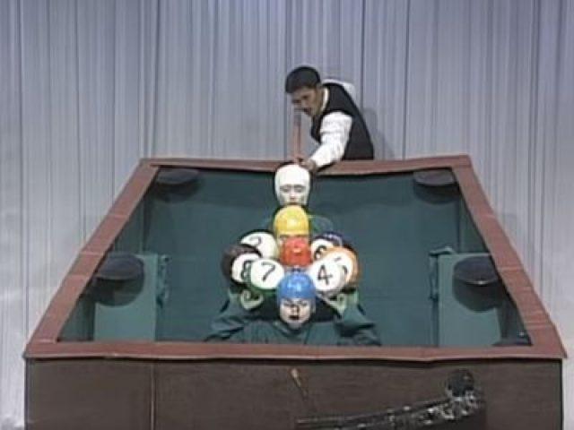 Billiards with human head