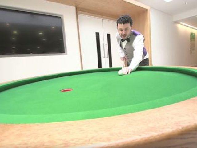 Elliptical Pool Table